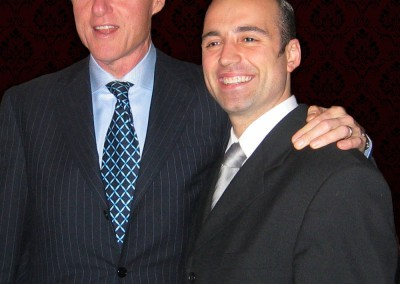 Paolo Siani with President Bill Clinton