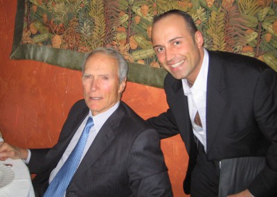 Paolo Siani with Clint Eastwood