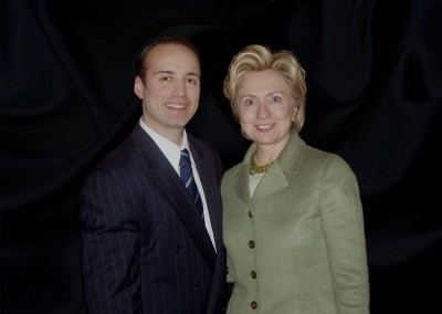 Paolo Siani with Hillary Clinton