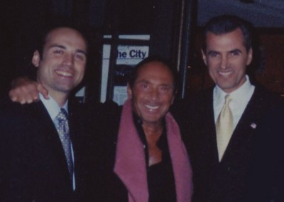 Paolo Siani with Paul Anka and Nino Selimaj